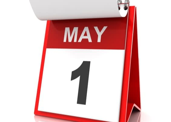 calendar showing May 1st, related to marketing ideas for May