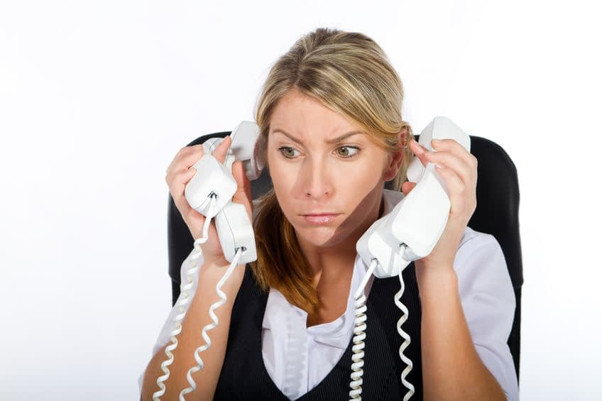 receptionist answering too many calls