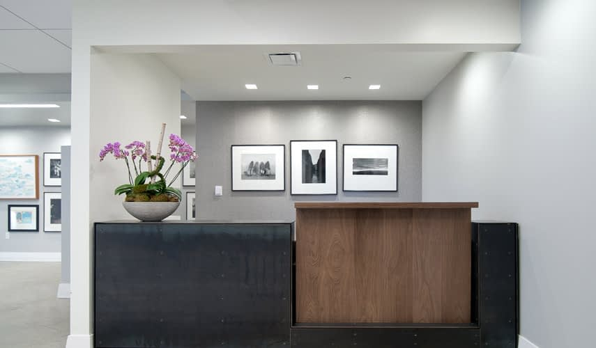 office reception area, work environment